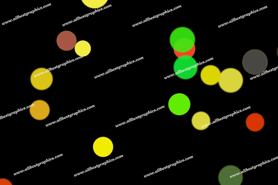 Wonderful City Lights Bokeh Clip Art | Fantastic Overlays for Photoshop on Black