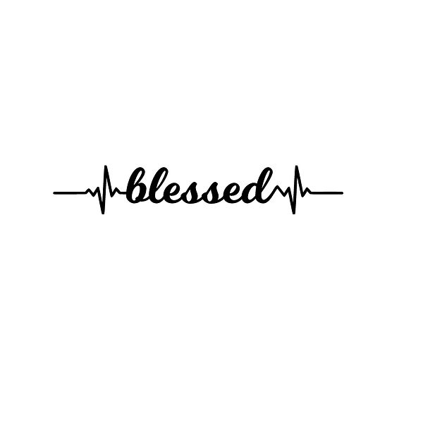 Blessed | Free download Iron on Transfer Funny Quotes T- Shirt Design in Png