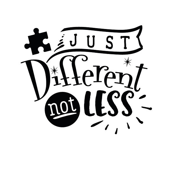 Just different not less Png | Free download Printable Funny Quotes T- Shirt Design in Png