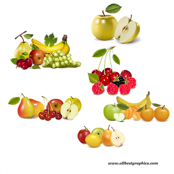 Gorgeous Mixed & Ripe Fresh Farm Fruits and Vegetables | Food clipart png free download