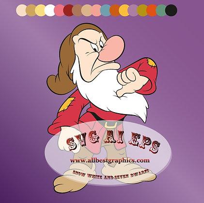 Grumpy Dwarf Svg Eps Dxf Png Seven Dwarfs | Disney Clipart Cut Files