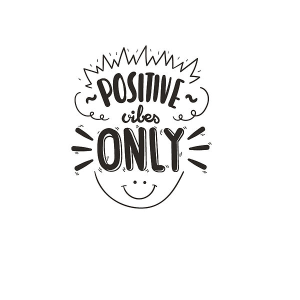 Positive vibes only Png | Free download Iron on Transfer Sassy Quotes T- Shirt Design in Png