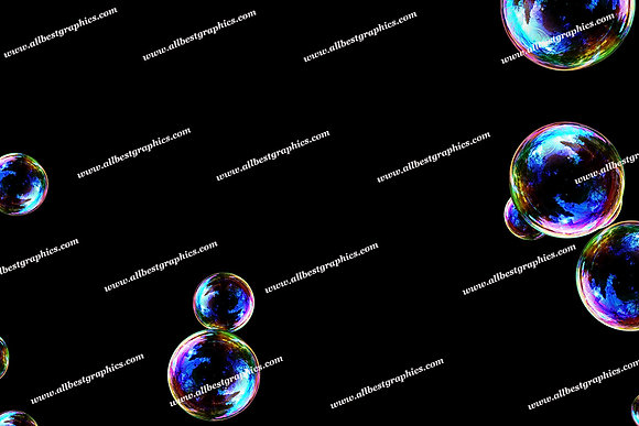 Natural Soap Bubble Overlays | Incredible Photo Overlay on Black