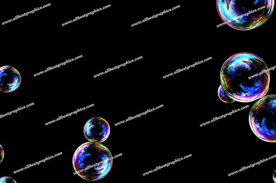 Natural Soap Bubble Overlays   Incredible Photo Overlay on Black