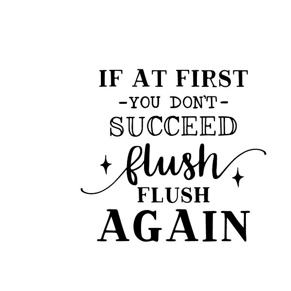 If at first you don't succeed flush flush again Png | Free Printable Sarcastic Quotes T- Shirt Design in Png