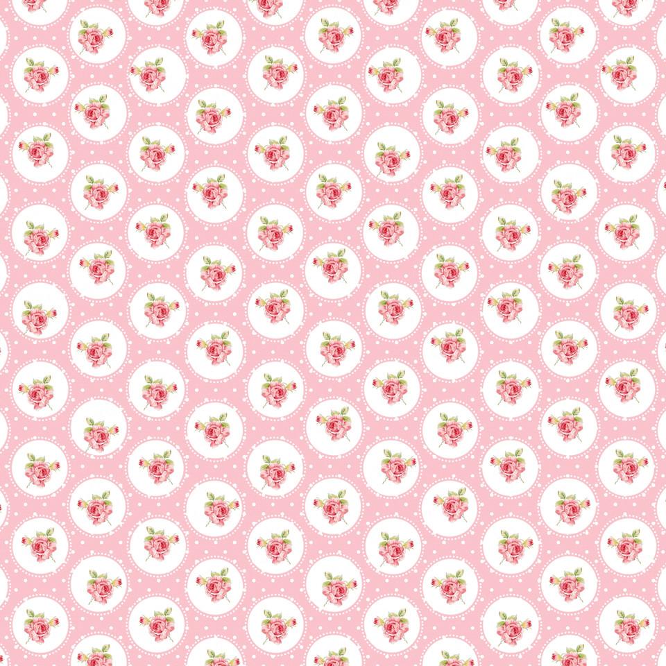 Vintage roses digital paper with seamless design | Invitation Digital Papers