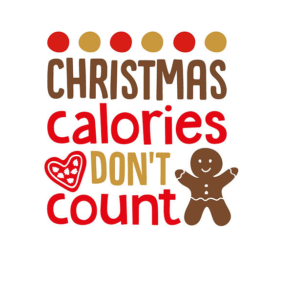 Christmas calories don't count | Free download Iron on Transfer Funny Quotes T- Shirt Design in Png