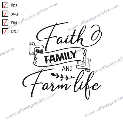 Faith Family and Farm Life | Cool Sayings & Quotes Marry Christmas Design Cut