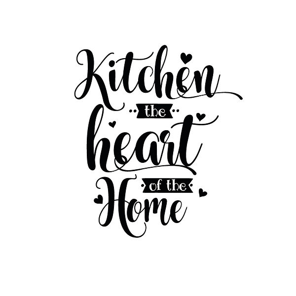 Kitchen the heart of the home Png | Free download Printable Cool Quotes T- Shirt Design in Png