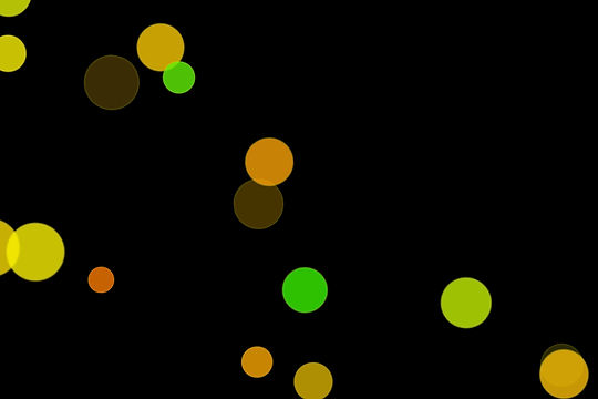 Colorful Festival Light Bokeh Clipart on black background | Free Overlays