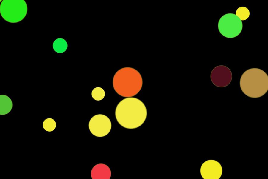 Beautiful Holiday Light Bokeh Overlay on black background   Freebies