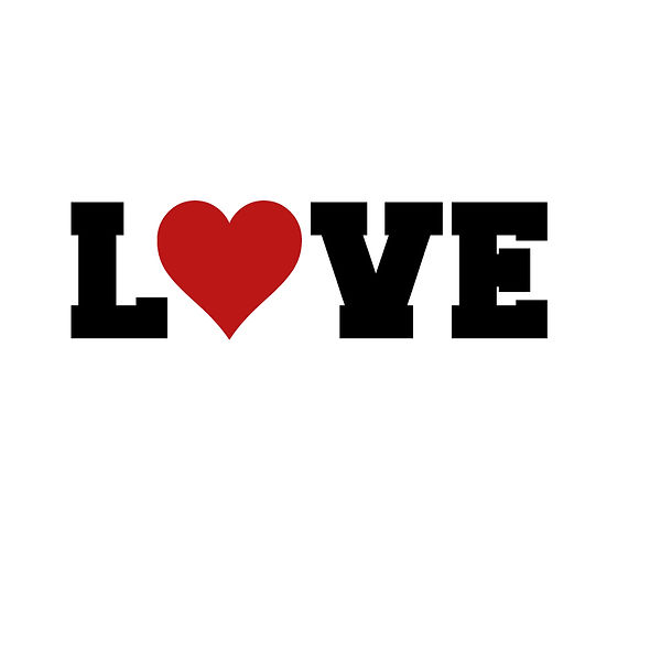 Love heart Png   Free Iron on Transfer Cool Quotes T- Shirt Design in Png