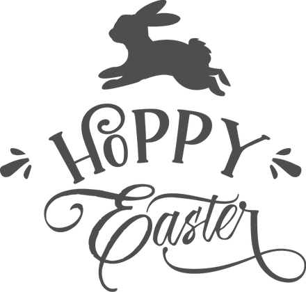 Hoppy Easter | Happy Easter and Bunny Quotes & Signs Cut files in Dxf Eps Svg