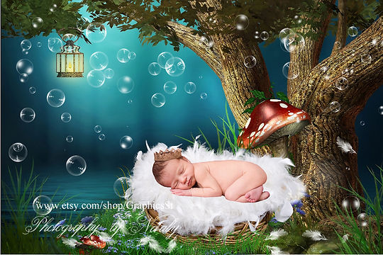 Adorable Newborn Digital Backdrop | Newborn photography