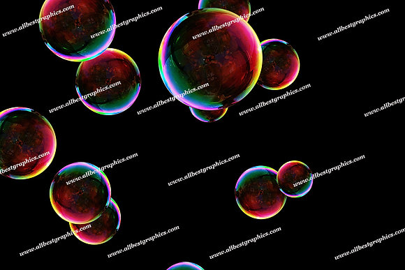 Beautiful Rainbow Bubble Overlays | Fantastic Photoshop Overlay on Black