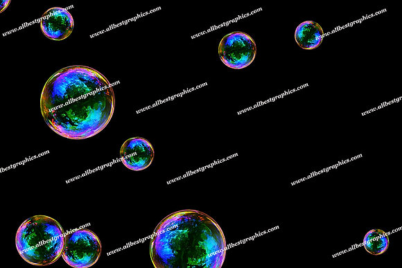 Natural Baby Bubble Overlays | Professional Photoshop Overlay on Black