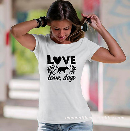 Love Dog Love Dogs | Cool Quotes & Signs about Pets Cut files in Svg Eps Dxf
