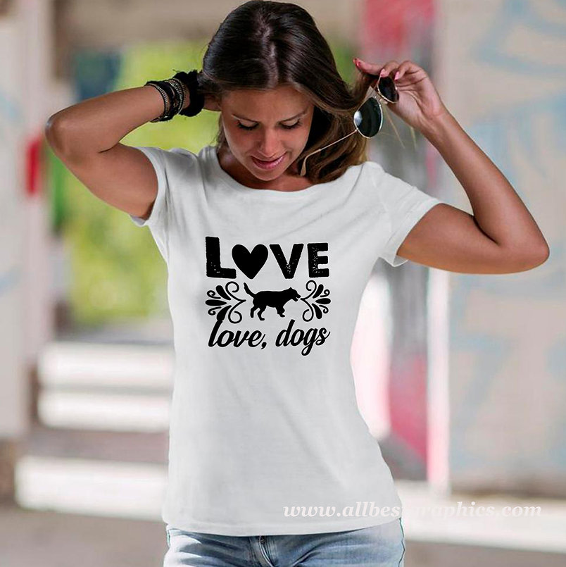 Love Dog Love Dogs | Cool Quotes & Signs about PetsCut files inSvg Eps Dxf