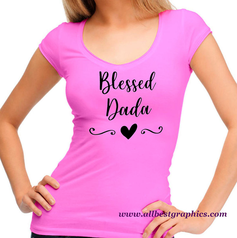 Blessed Dada | Funny Quotes & Signs Cut files in Eps Dxf Svg