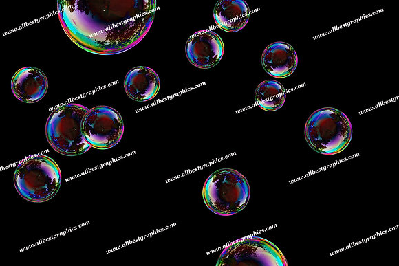 Beautiful Soap Bubble Overlays | Unbelievable Photoshop Overlays on Black