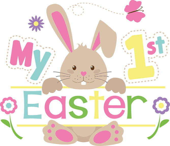 My 1st Easter | Best Easter and Bunny Quotes & Signs Cut files in Dxf Eps Svg