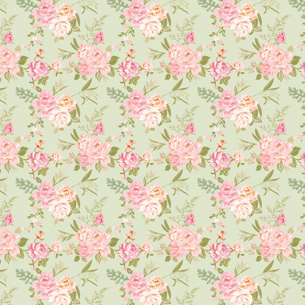Shabby Chic roses digital paper with seamless design | Seamless Digital Papers