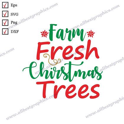 Farm fresh Christmas Tree | Best Funny Sayings Marry Christmas Design Cut files