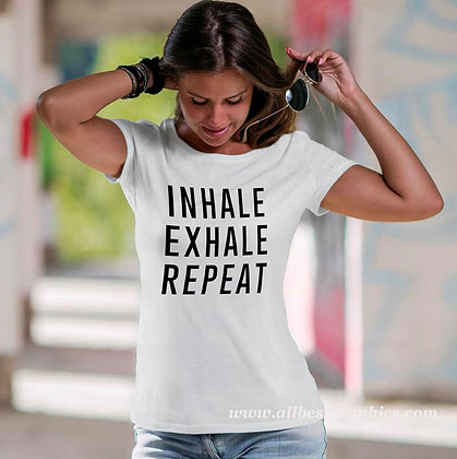 Inhale Exhale Repeat | Brainy T-Shirt QuotesCut files inSvg Dxf Eps