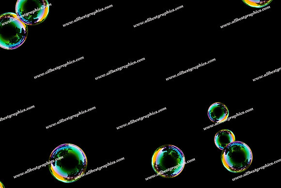 Whimsical Soap Bubble Overlays | Stunning Photoshop Overlays on Black