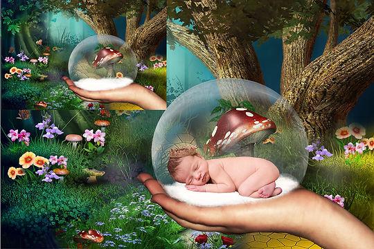Romantic Newborn Digital Backdrop | Newborn photography