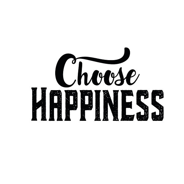 Choose happiness | Free download Iron on Transfer Funny Quotes T- Shirt Design in Png