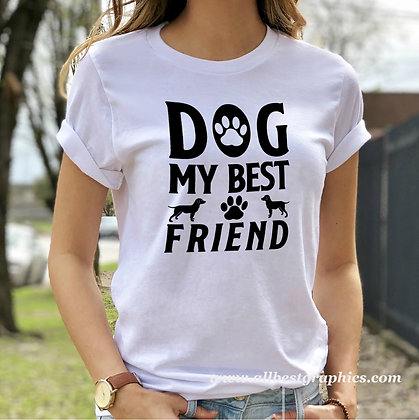 Dog My Best Friend |  Cool Quotes & Signs about Pets in Eps Svg Png Dxf