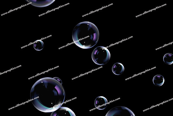 Dreamy Soap Bubble Overlays | Incredible Photo Overlays on Black