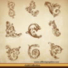 Acanthus leaves vector set   Decorative elements for Home decor - Ai Eps Svg