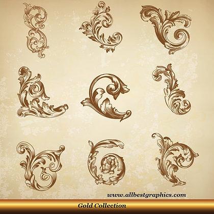 Acanthus leaves vector set | Decorative elements for Home decor - Ai Eps Svg Png