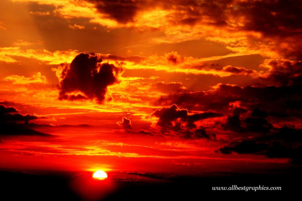 Stunning cloudy sunset sky overlay | Photoshop overlays