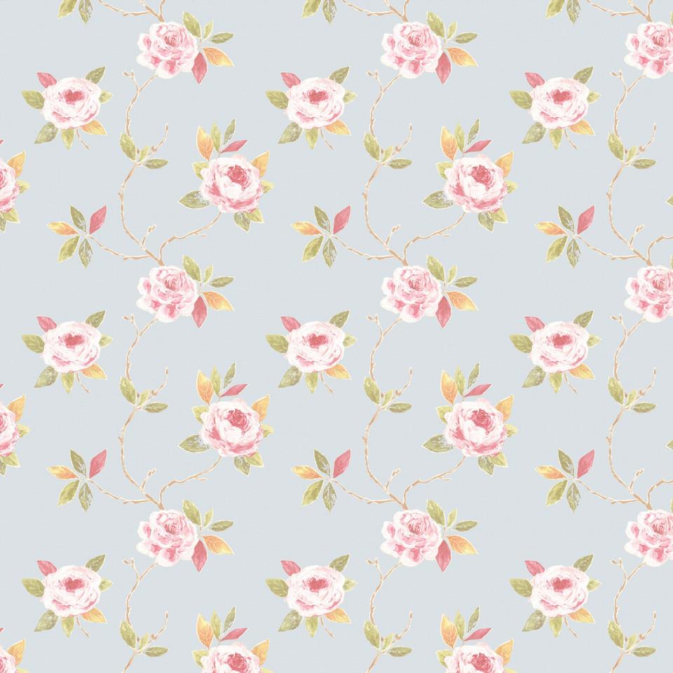 Watercolor floral digital paper with pastel flowers   Scrapbook Paper