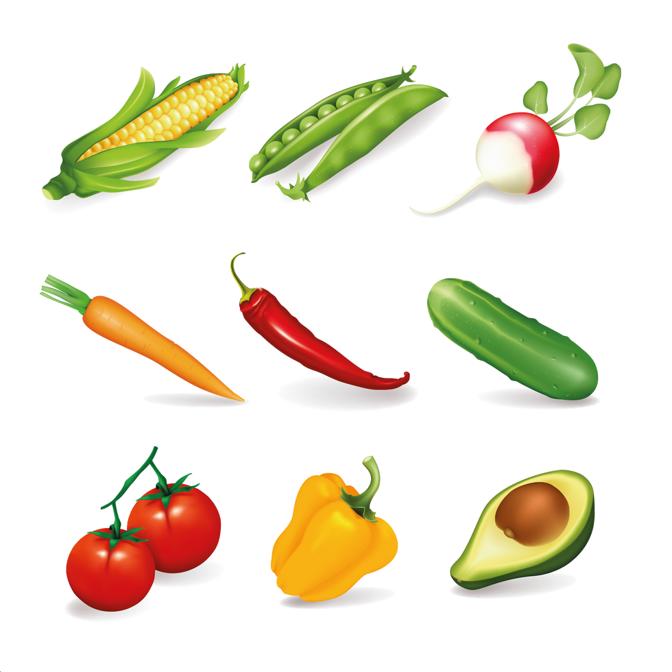 Radish Red Chili Pepper & Tomato | Food clipart free download -size 2400x2400 300ppi