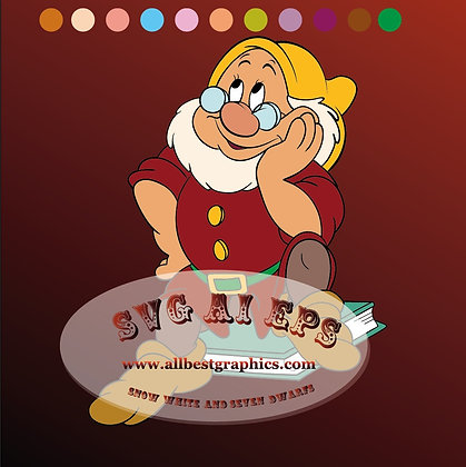 Doc Seven Dwarfs svg | Snow White and the Seven dwarfs clipart - Ai Eps Svg Dxf Png files 02