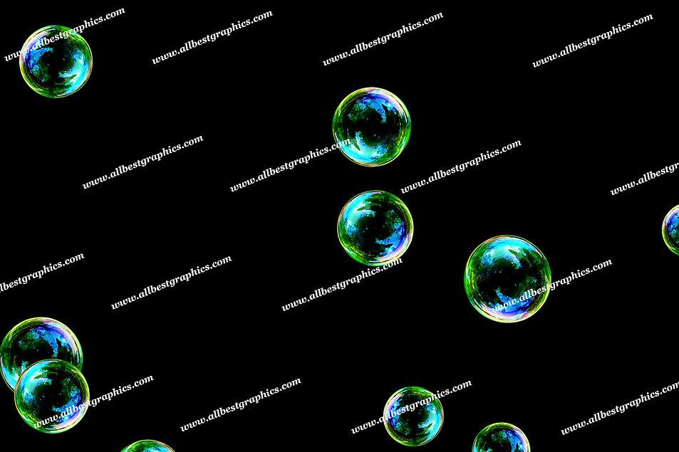 Summer Realistic Bubble Overlays | Fantastic Photoshop Overlay on Black