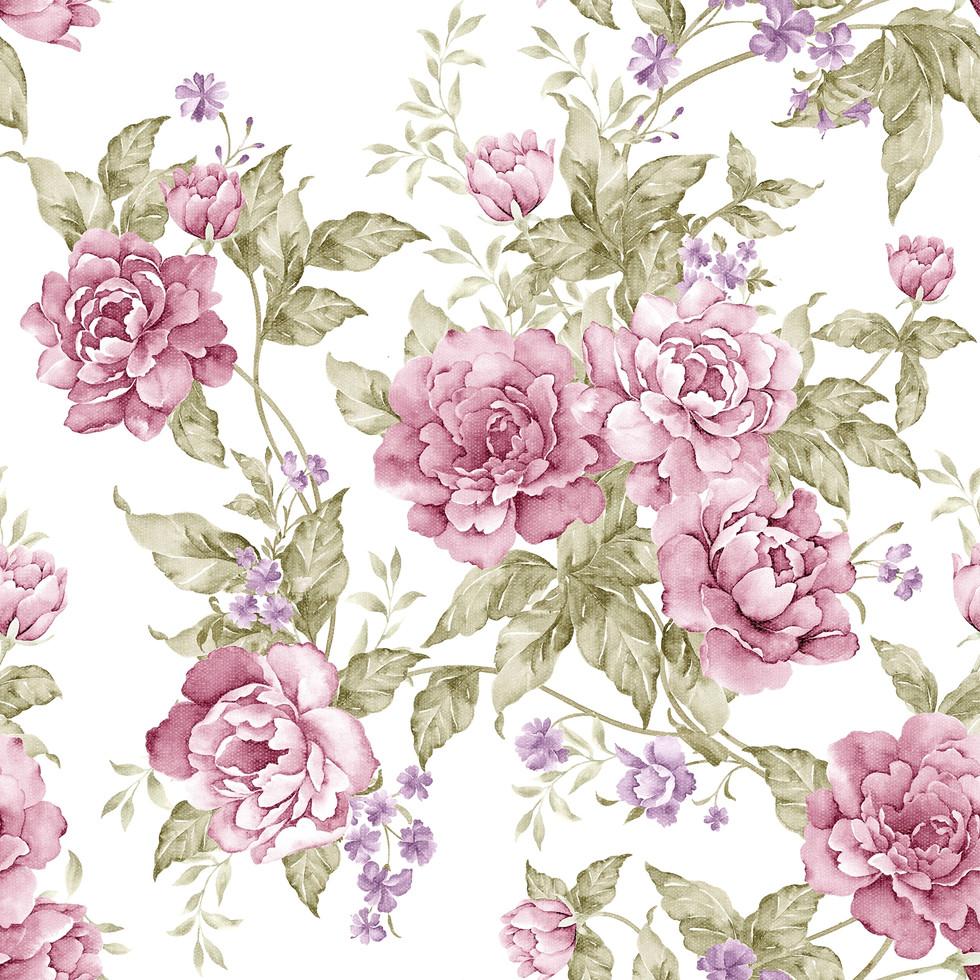 Watercolor roses digital paper with seamless design | Printable Digital Papers