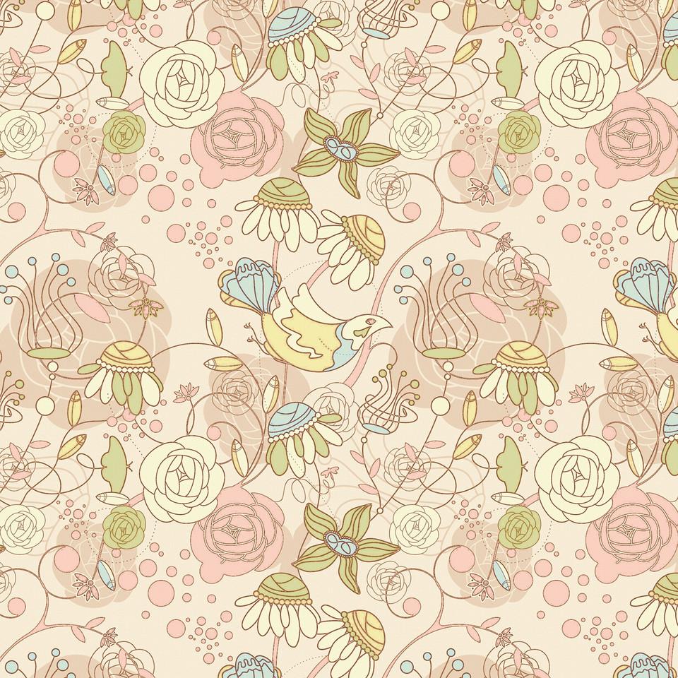 Watercolor floral digital paper with roses   Gift Digital Paper