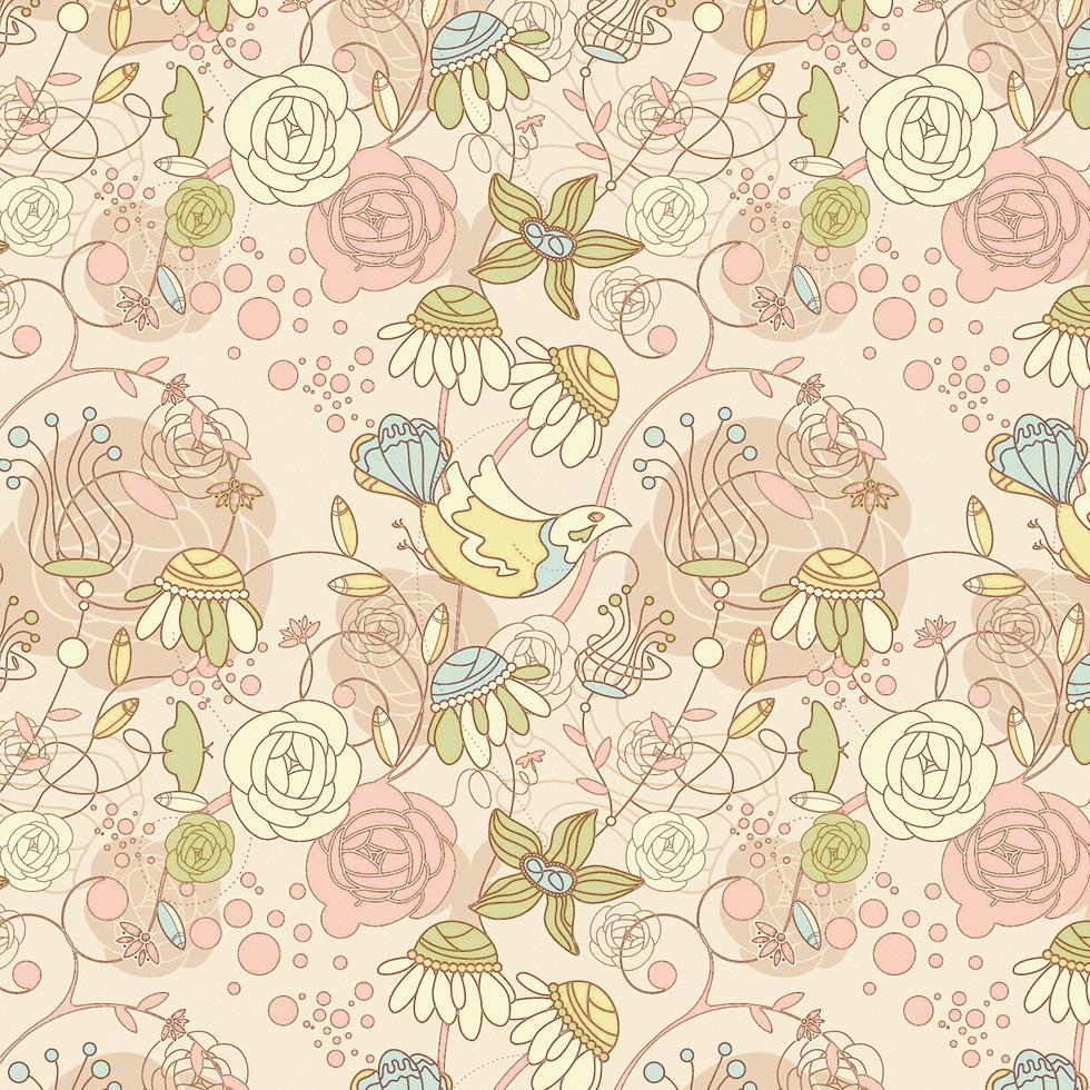 Watercolor floral digital paper with roses | Gift Digital Paper