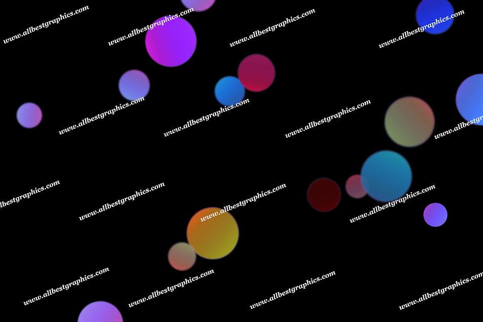 Delightful Realistic Lights Bokeh Effect   Magical Photoshop Overlay on Black