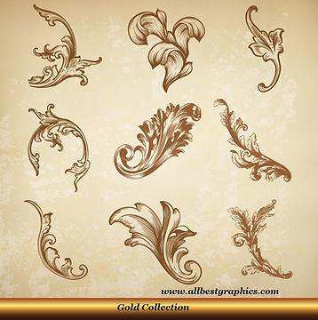 Acanthus leaves   Antique decorative elements vector set_90326.005