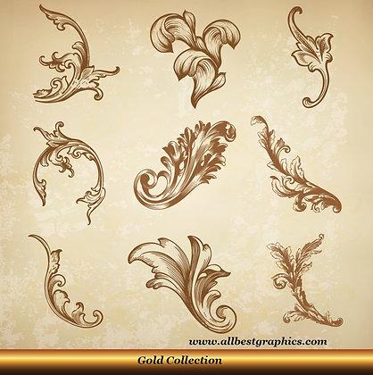 Acanthus leaves | Antique decorative elements vector set_90326.005