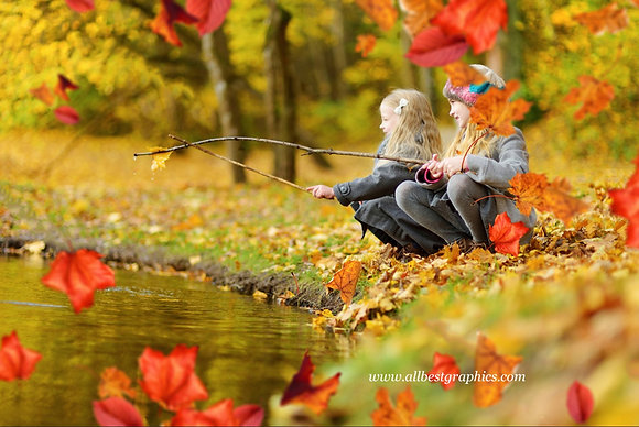 Awesome Fall Leaves Photo Overlays | Stunning Photoshop Action