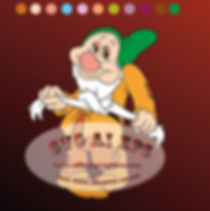 Bashful Dwarfs  Eps Ai Svg Dxf Png | Snow White and the Seven Dwarfs