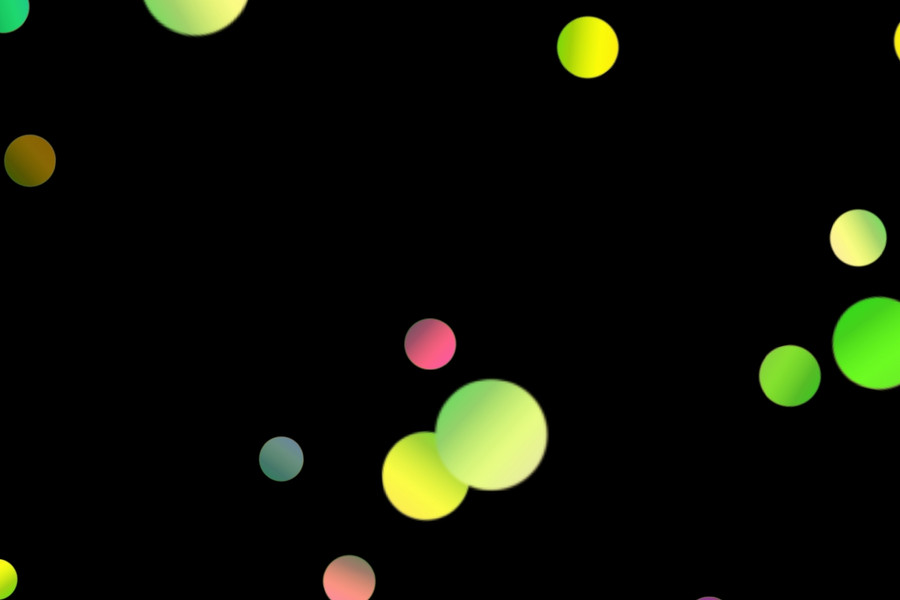Beautiful Holiday Light Bokeh Clipart on black background | Free Download