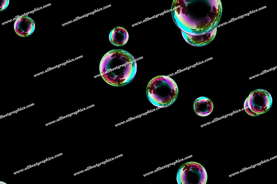 Whimsical Air Bubble Overlays   Fantastic Overlay for Photoshop on Black
